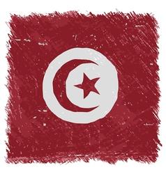 Flag of Tunisia handmade square shape vector