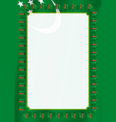 frame and border of ribbon with turkmenistan flag vector image
