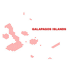 galapagos islands map - mosaic of lovely hearts vector image