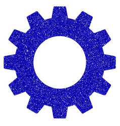 Gear icon grunge watermark vector