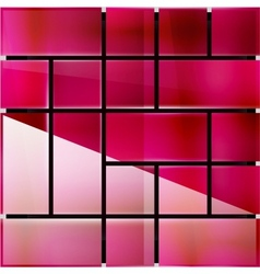 Glossy glass surface geometrical modern template vector