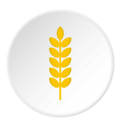 Grain spike icon circle vector