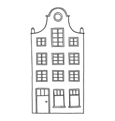 hand drawn old house vector image