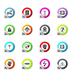 High voltage icons set vector