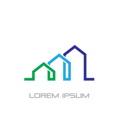 home building business construction logo vector image