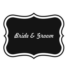 Just married label icon simple style vector