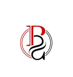 Letter p s icon logo design template vector