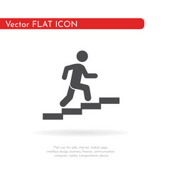 Man stairs icon for web business finance and vector