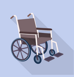 medical wheelchair icon flat style vector image