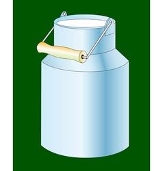 Milk cans vector