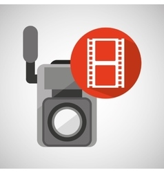movie video camera strip film icon vector image
