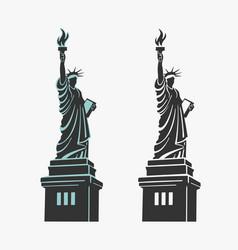 new york statue liberty symbol vector image