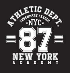New york typography for t-shirt print sports vector