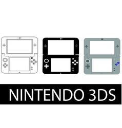 nintendo 3ds vector image