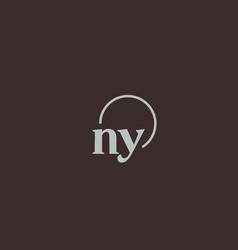 Ny initials logo monogram vector