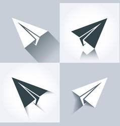 Paper plane icons vector