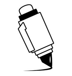 pen utensil school outline vector image