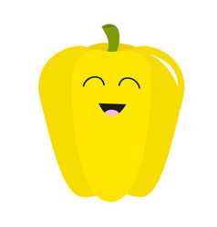 pepper icon yellow color vegetable collection vector image