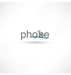 phone spelling letters vector image