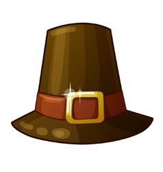 Pilgrim Hat isolated on white background vector