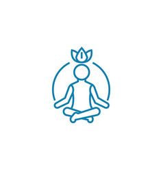 process of meditation linear icon concept process vector image