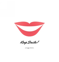 red lips logotype icon vector image vector image