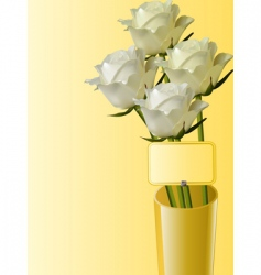roses in vase vector image