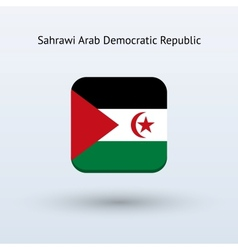 Sahrawi Arab Democratic Republic flag icon vector