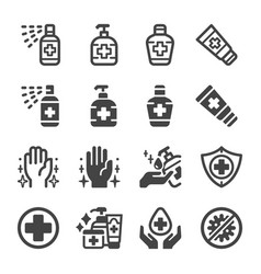 sanitizer icon set vector image