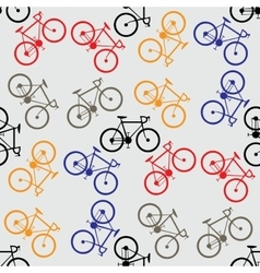 Seamless pattern colorful bicycles vector image