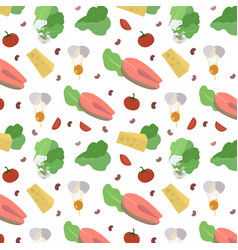 Seamless pattern healthy food vector