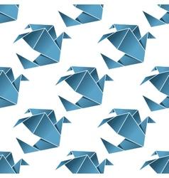 seamless pattern origami birds vector image