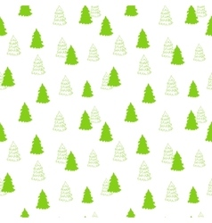 seamless pattern with New Year Christmas vector image