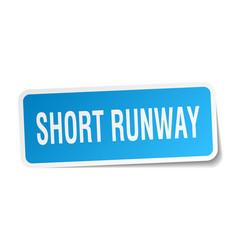 Short runway square sticker on white vector