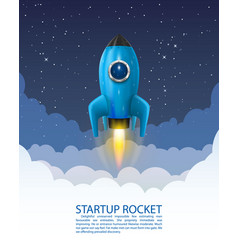 Space rocket launch startup creative idea rocket vector