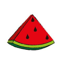 Sweet fruit watermelon vector