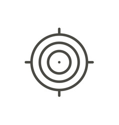 target icon outline focus line shot symbo vector image