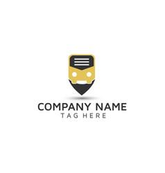 Travel agency book logo design vector