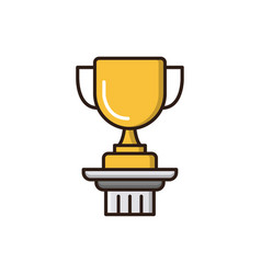 Trophy filled outline icon vector