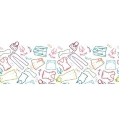 Wardrobe clothing horizontal seamless pattern vector