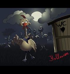 halloween chicken zombies vector image