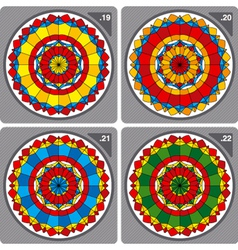 set of colorful circular ornaments vector image vector image