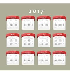 2017 calendar vector