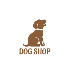 dog shop logo vector image