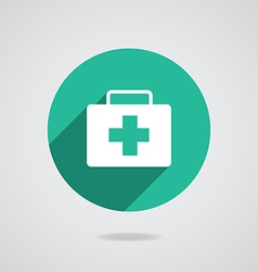 Medical white icon vector image