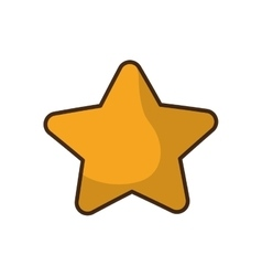 Merry christmas star isolated icon vector