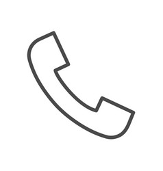 phone call line icon vector image vector image