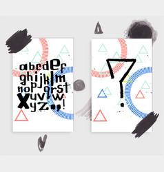 Unique latin alphabet vector