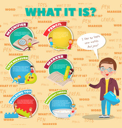 what it is description of tools for study and vector image