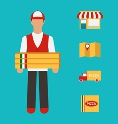 Banner with Pizza Delivery Perfect Service vector image vector image